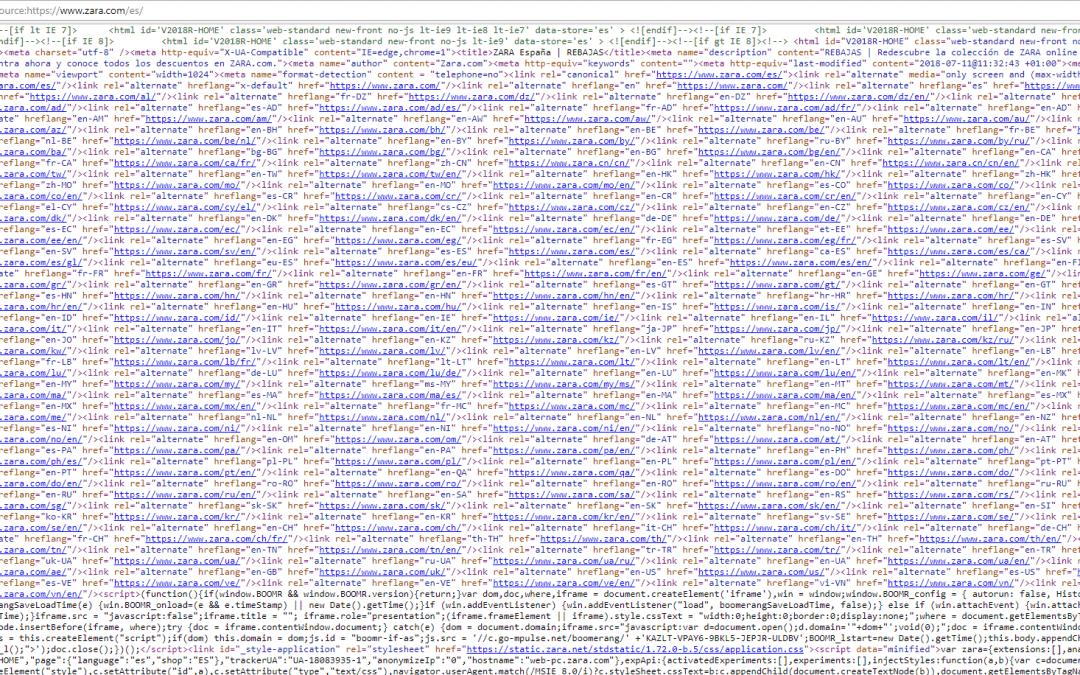 Como ver el código fuente de una página bloqueada